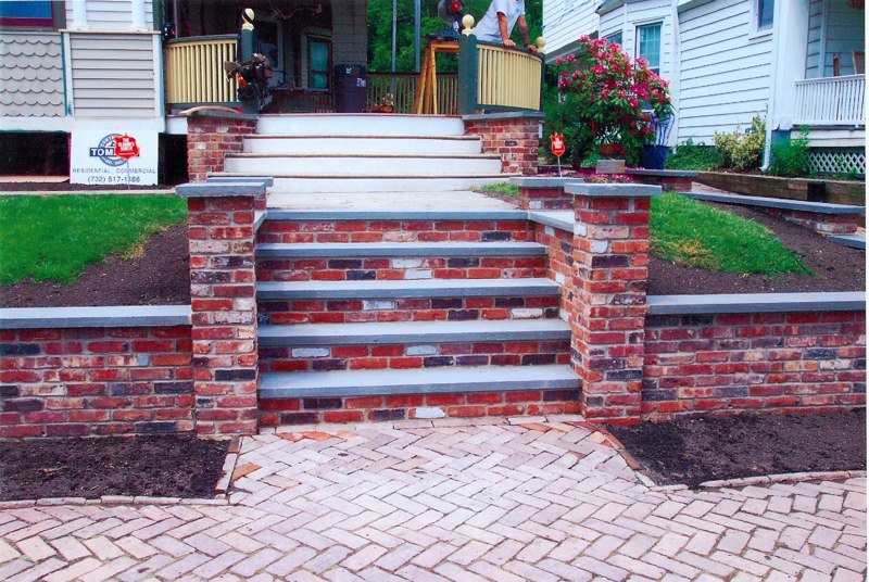 Used Brick And Bluestone Retaing Wall